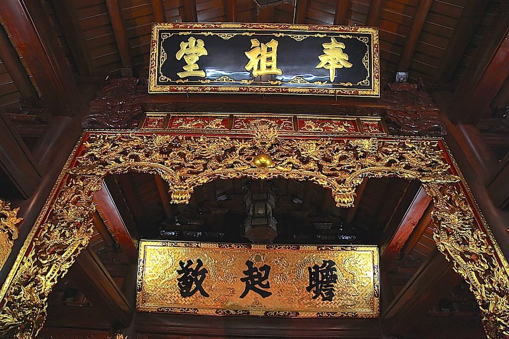 Chùm ảnh: Cận cảnh khu nhà thờ họ 100 tỷ với nhiều vật dụng dát vàng ở Nghệ An - Ảnh 7.