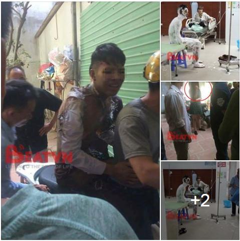 Bắc Ninh: Nam thanh niên tẩm xăng tự thiêu, nghi do cãi nhau với bạn gái - Ảnh 1.