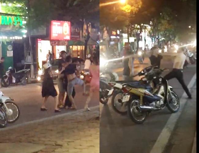 Clip: Nghĩ mình bị nhìn đểu, nam thanh niên đánh người đàn ông chảy máu đầu giữa phố Hà Nội - Ảnh 4.