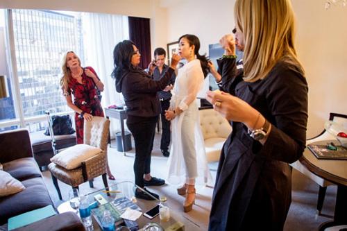 CEO Elise Lưu Nga ngồi cùng hàng Paris Hilton xem thời trang tại New York - Ảnh 5.