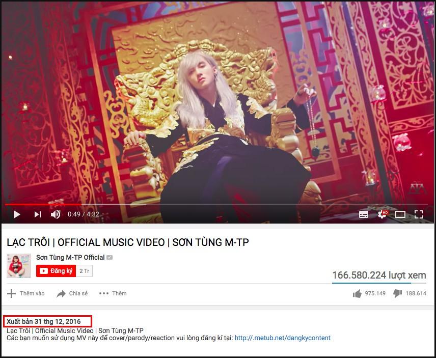 Lạc trôi của Sơn Tùng không có trong top 10 MV Vpop hot nhất năm 2017 của Youtube và nguyên do là... - Ảnh 2.
