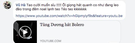 Vũ Hà đá thẳng clip Tùng Dương hát bolero: Giọng hát quanh co như đang leo đèo trong đêm Noel - Ảnh 2.