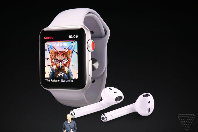 Apple vừa giới thiệu Apple Watch Series 3: thiết kế không đổi, có thể cắm SIM và chứa được hơn 40 triệu bài hát - Ảnh 5.