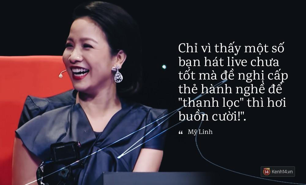 Diva Mỹ Linh: Chỉ vì thấy một số bạn hát live chưa tốt mà đề nghị cấp thẻ hành nghề để thanh lọc thì hơi buồn cười! - Ảnh 2.