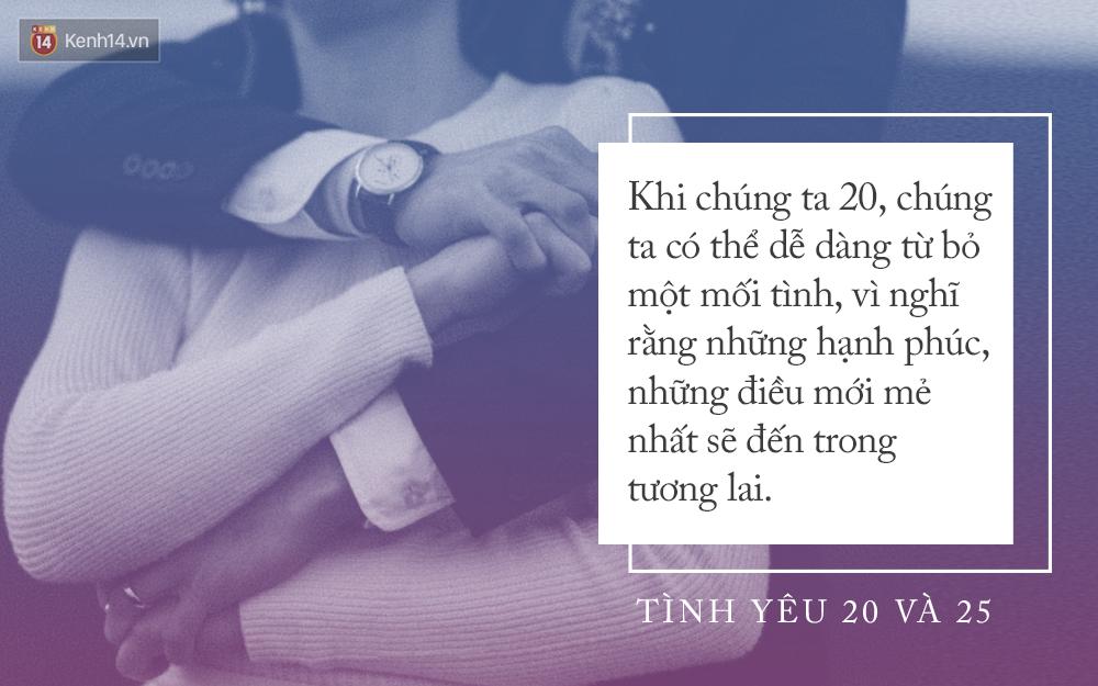 Khi 20 tuổi, tình yêu phải thật nồng nhiệt, nhưng nếu đã 25 bạn sẽ chỉ cần một tình yêu dịu dàng - Ảnh 2.