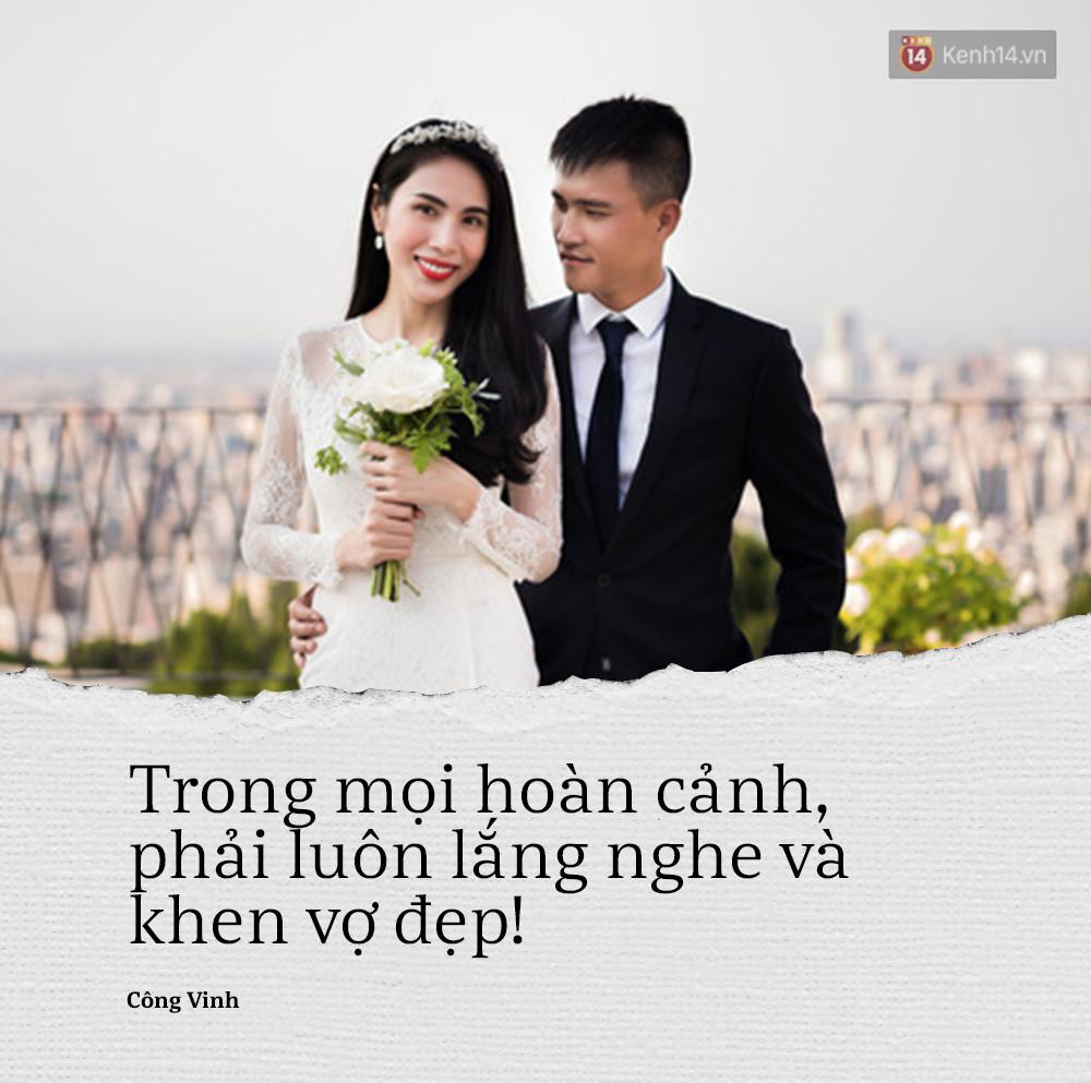 Công Vinh: Người khác nghĩ gì đừng quan tâm, trong mọi hoàn cảnh mình phải khen vợ đẹp! - Ảnh 1.