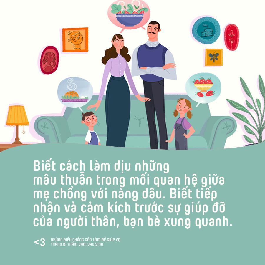 Những điều chồng cần làm để giúp vợ phòng tránh bị trầm cảm sau sinh - Ảnh 9.