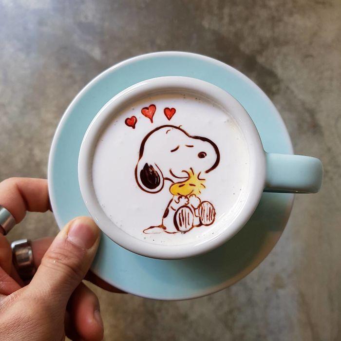 15 bức tranh tuyệt đẹp được vẽ trên tách cà phê - Ảnh 26.