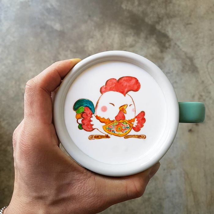 15 bức tranh tuyệt đẹp được vẽ trên tách cà phê - Ảnh 16.
