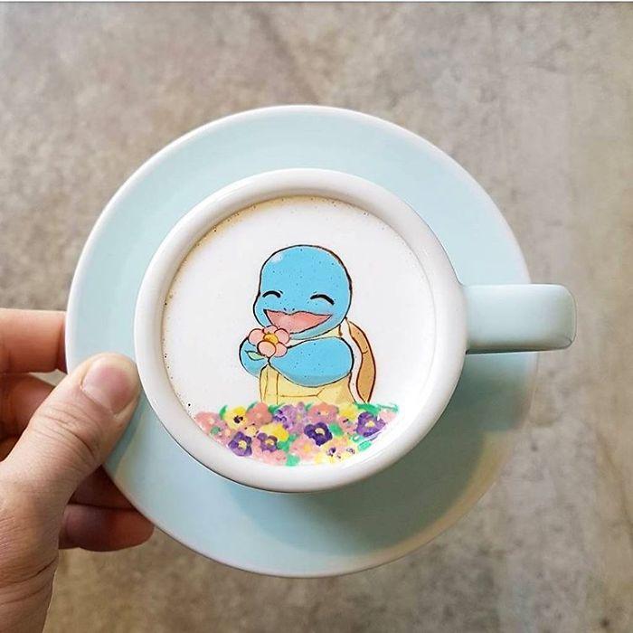 15 bức tranh tuyệt đẹp được vẽ trên tách cà phê - Ảnh 4.