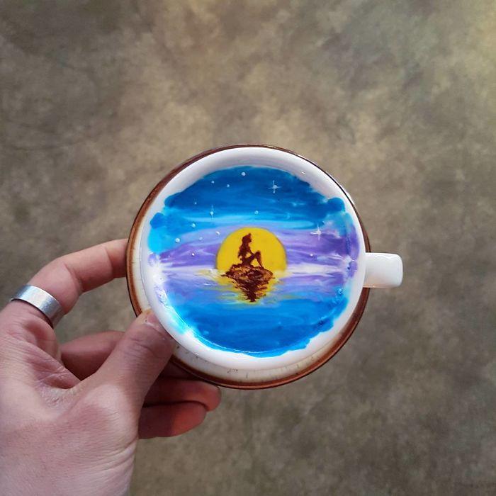 15 bức tranh tuyệt đẹp được vẽ trên tách cà phê - Ảnh 12.