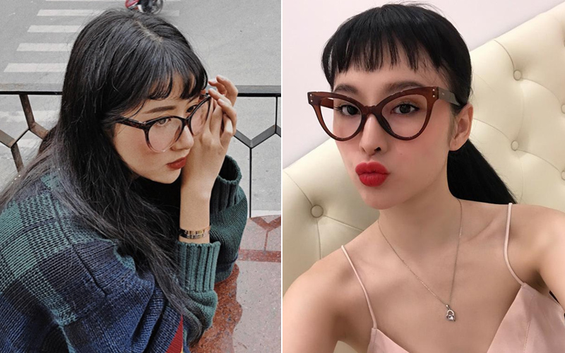 Angela Phương Trinh & Quỳnh Anh Shyn thành chị em một nhà vì để tóc mái, đeo kính giống nhau - Ảnh 4.