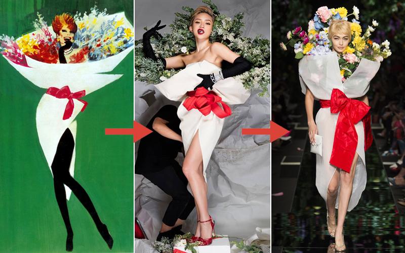 Từ bản phác thảo 1920 đến Tóc Tiên trên Elle 2016 và show Moschino 2018: Thời trang cũng chỉ lặp lại thôi mà! - Ảnh 5.