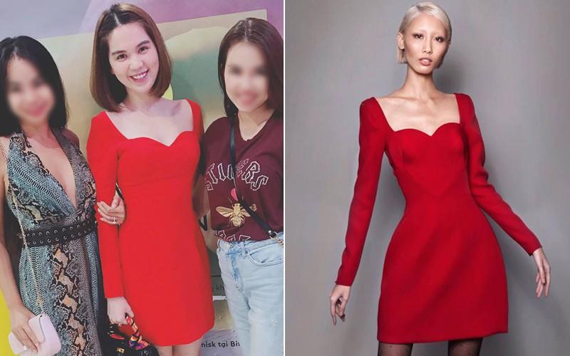 Từng tuyên bố không nhái thiết kế Việt, lần này Ngọc Trinh lại mặc váy na ná của Lâm Gia Khang - Ảnh 5.
