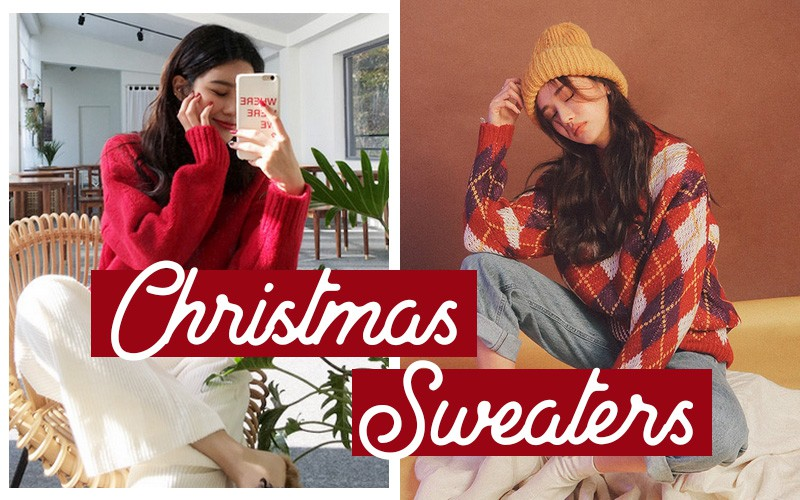 Đi chơi Giáng sinh nhất định phải diện áo len đỏ và đây là 12 gợi ý mix đồ với áo len đỏ xinh lung linh cho bạn - Ảnh 1.