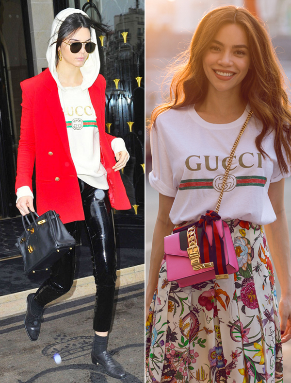 Hồ Ngọc Hà & Kendall Jenner: Cùng áo thun Gucci giá chát, ai diện oách hơn? - Ảnh 4.