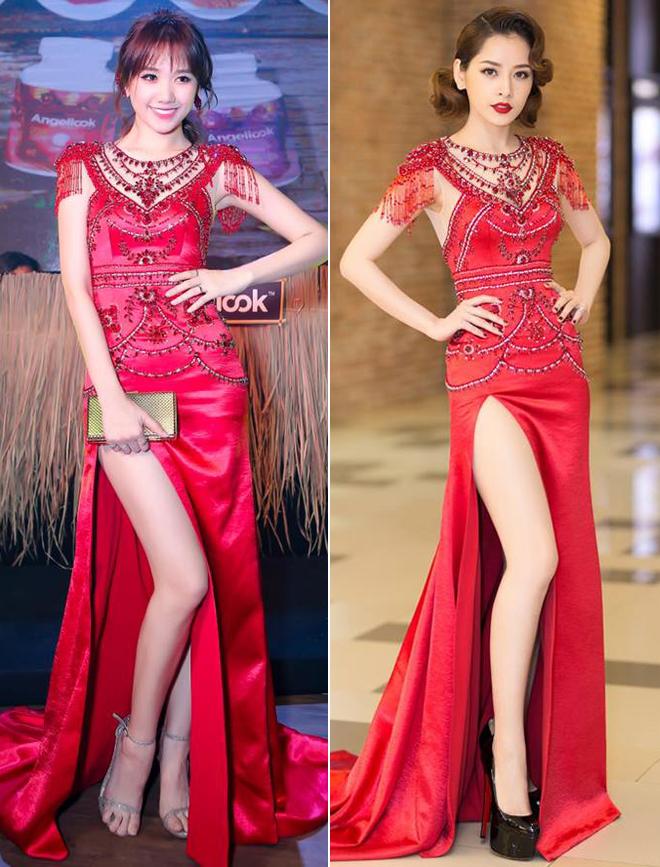 Hari Won mặc lại đầm đỏ quyến rũ mà Chi Pu diện từ nửa năm trước, ai đẹp hơn? - Ảnh 7.