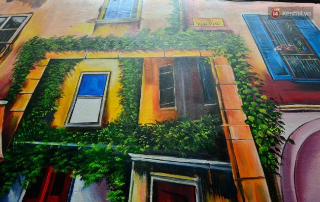 Ngắm bức tranh tường 3D phong cảnh góc phố Venice đầy màu sắc trong ngõ nhỏ Hà Nội - Ảnh 10.