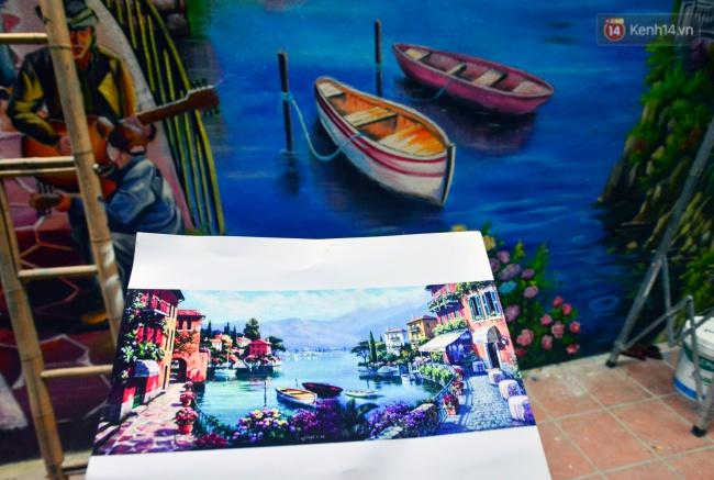 Ngắm bức tranh tường 3D phong cảnh góc phố Venice đầy màu sắc trong ngõ nhỏ Hà Nội - Ảnh 7.
