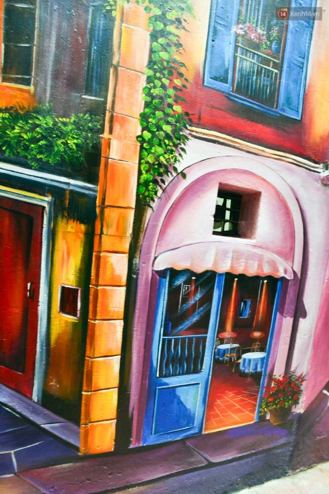 Ngắm bức tranh tường 3D phong cảnh góc phố Venice đầy màu sắc trong ngõ nhỏ Hà Nội - Ảnh 9.