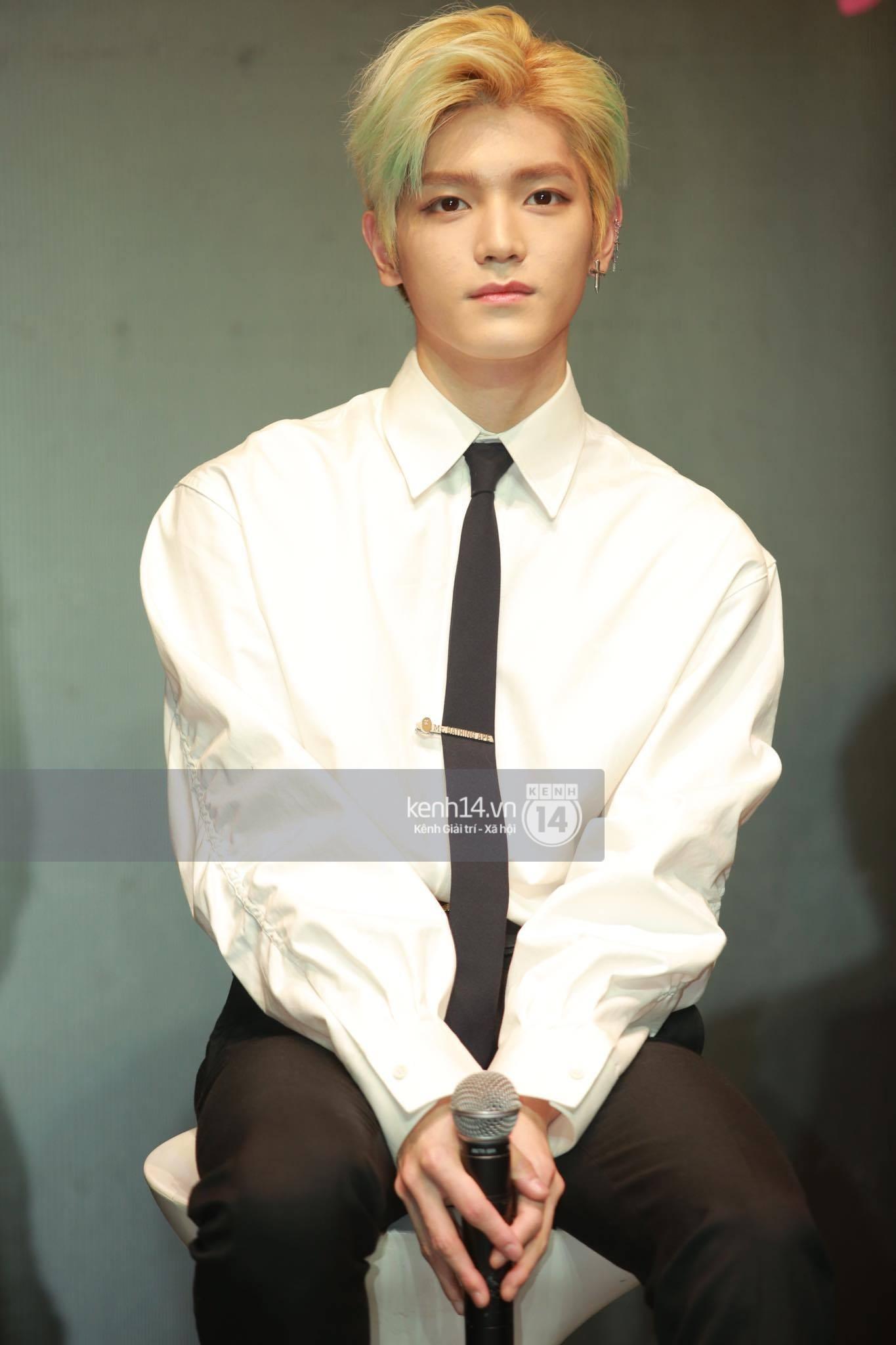 Mỹ nam Taeyong tiết lộ muốn ở lại Việt Nam, NCT 127 đồng loạt tỏ tình Anh yêu em với fan tại họp báo ở Hà Nội - Ảnh 26.
