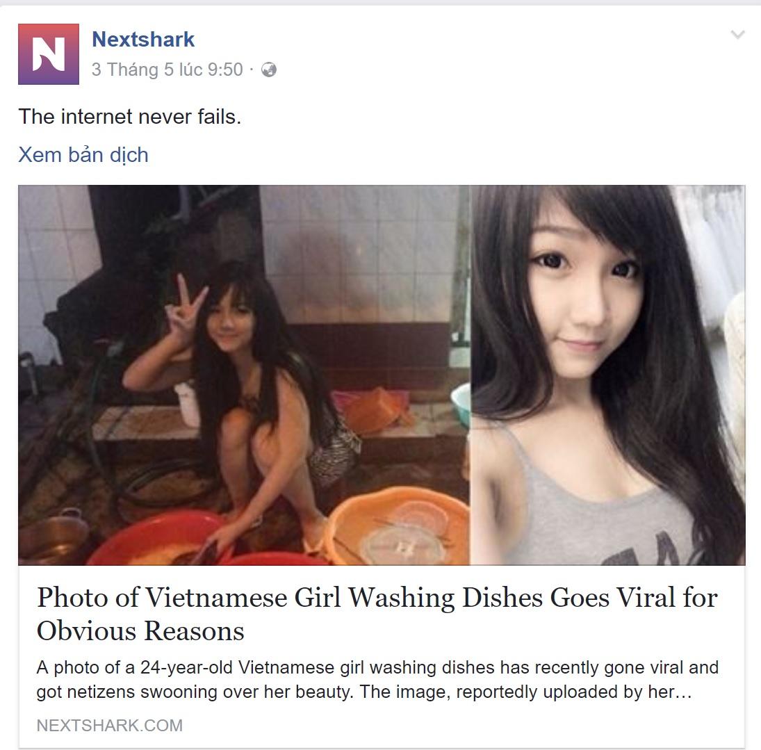 Hot girl rửa bát Việt Nam bất ngờ được báo Hàn, Singapore khen ngợi hết lời - Ảnh 2.