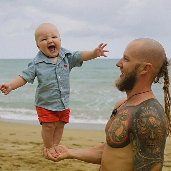 18 khoảnh khắc tình như cái bình giữa bố và con - Ảnh 3.