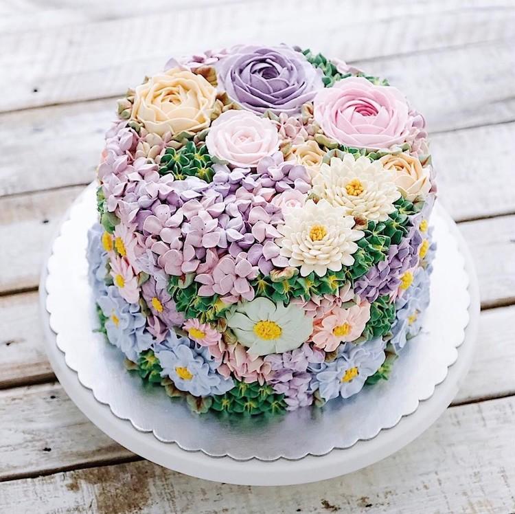 15 chiếc bánh kem hoa cỏ mùa xuân đạt tới đỉnh cao của nghệ thuật nấu nướng - Ảnh 7.