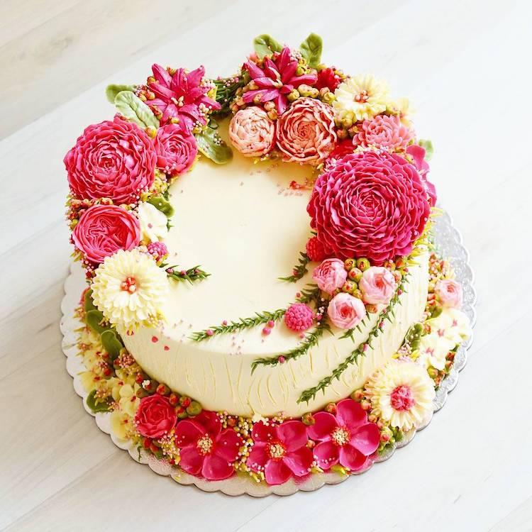 15 chiếc bánh kem hoa cỏ mùa xuân đạt tới đỉnh cao của nghệ thuật nấu nướng - Ảnh 1.