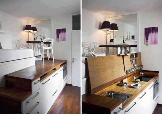 12 cách bố trí thông minh cho những gian bếp chật hẹp - Ảnh 5.