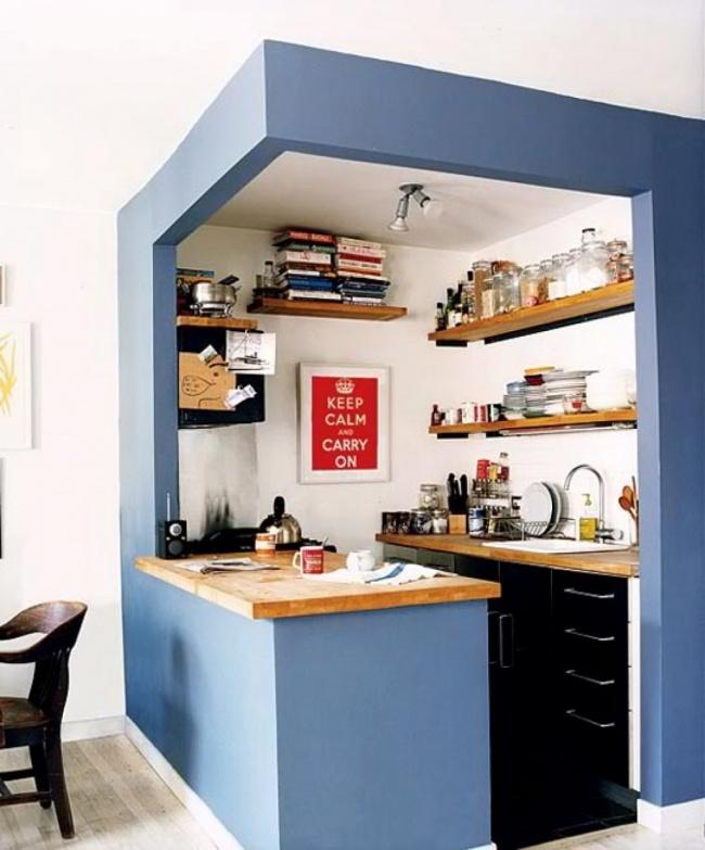 12 cách bố trí thông minh cho những gian bếp chật hẹp - Ảnh 9.