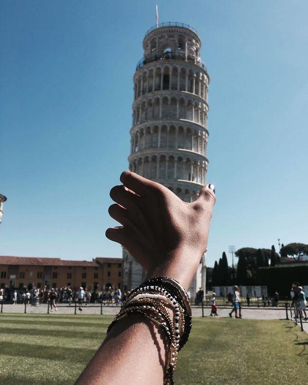 16 kiểu chụp ảnh sống ảo sáng tạo với tháp nghiêng Pisa - Ảnh 31.