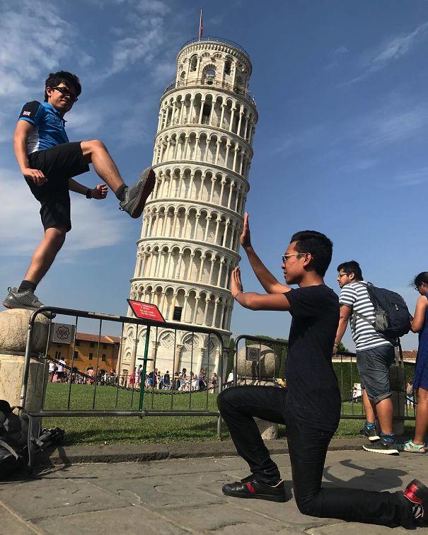 16 kiểu chụp ảnh sống ảo sáng tạo với tháp nghiêng Pisa - Ảnh 27.