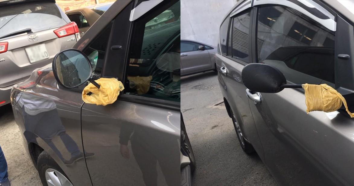 Năm hết tết đến, xe hơi độ gương xuất hiện đầy đường vì gương xịn đã bị bẻ trộm - Ảnh 1.