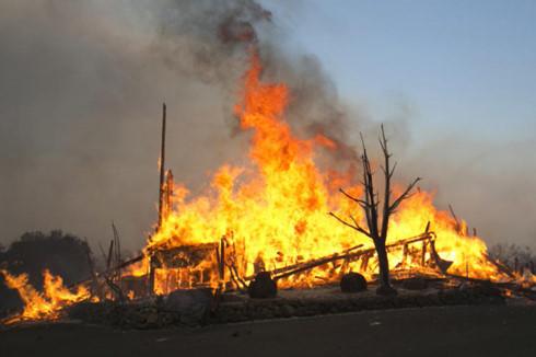 Cháy rừng ở California. Ảnh: AP.