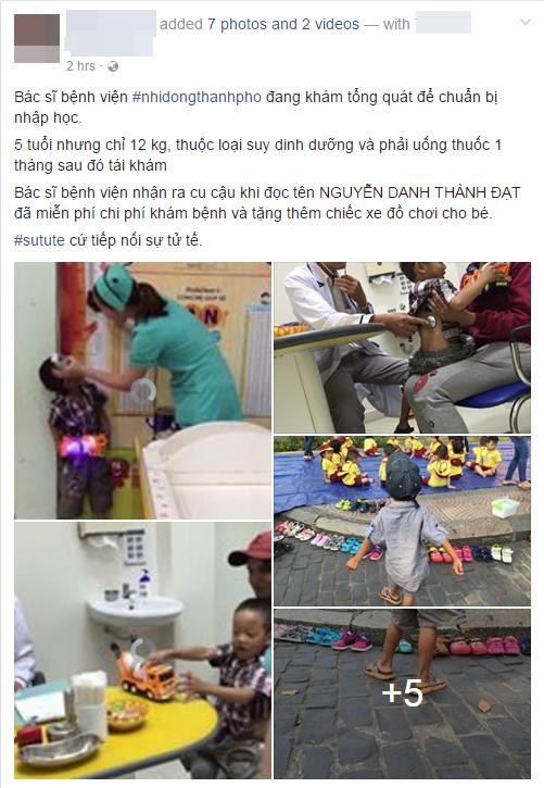 Cậu bé lượm ve chai trong bức ảnh xếp dép bị suy dinh dưỡng khá nặng, 5 tuổi bé chỉ nặng 12kg - Ảnh 1.