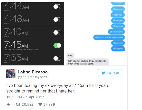 Suốt 3 năm liền, chàng trai vẫn miệt mài nhắn tin Tôi ghét cô rồi gửi cho bạn gái cũ vào 7h45 sáng - Ảnh 3.