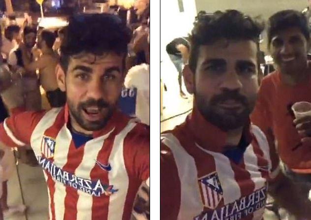 Diego Costa mặc áo Atletico, chọc tức ông thầy Conte - Ảnh 1.