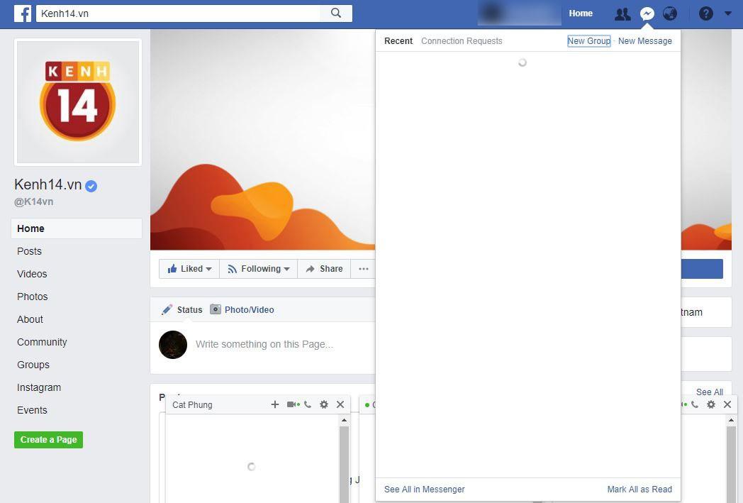 Facebook Messenger bất ngờ sập, tin nhắn không thể hiện lên hay gửi đi - Ảnh 1.