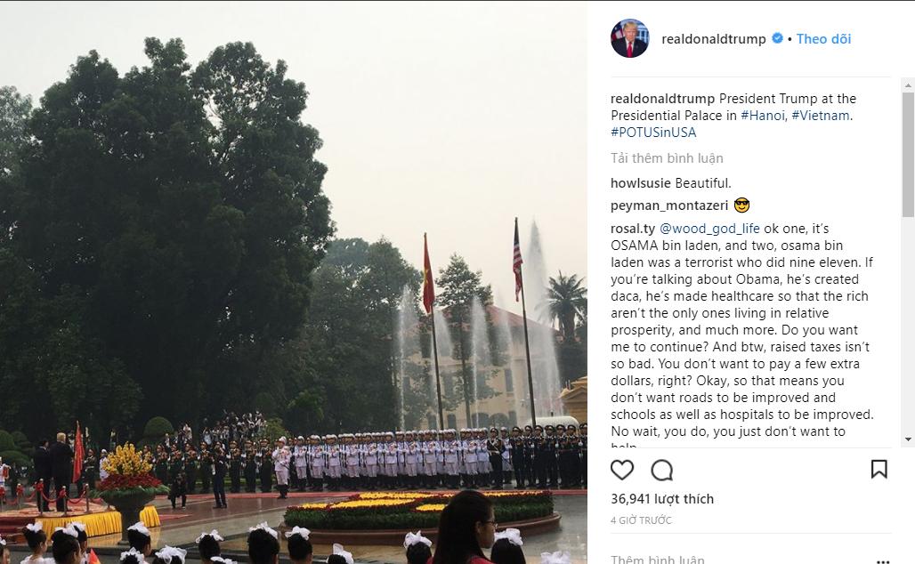 Tài khoản Instagram của tổng thống Donald J. Trump cập nhật hình ảnh Phủ chủ tịch vào sáng ngày hôm nay - Ảnh 2.