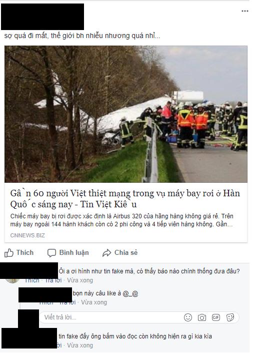 Thực hư chuyện máy bay rơi ở Hàn Quốc khiến 60 người Việt Nam thiệt mạng