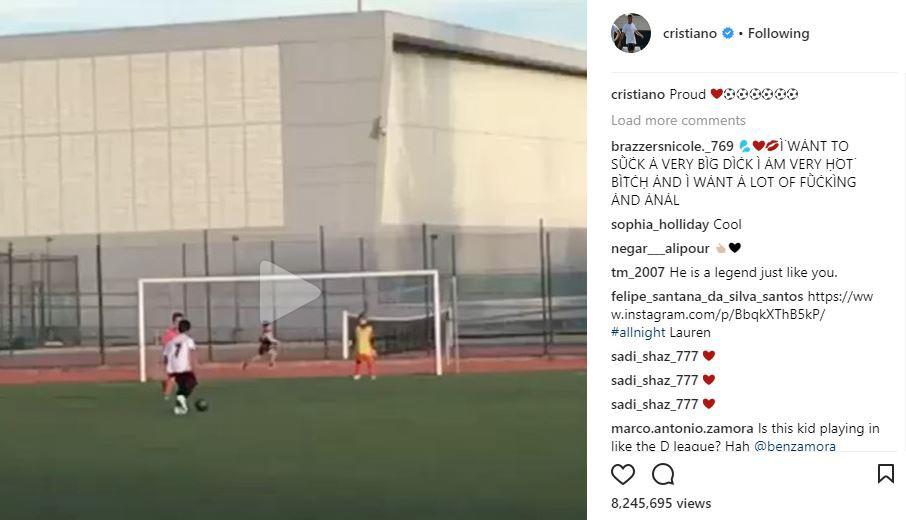 Con trai Ronaldo gây sốt khi ghi 6 bàn một trận - Ảnh 2.