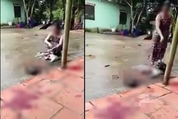 Phẫn nộ clip người phụ nữ thản nhiên chặt chân chú chó còn sống ngay trước hiên nhà - Ảnh 4.