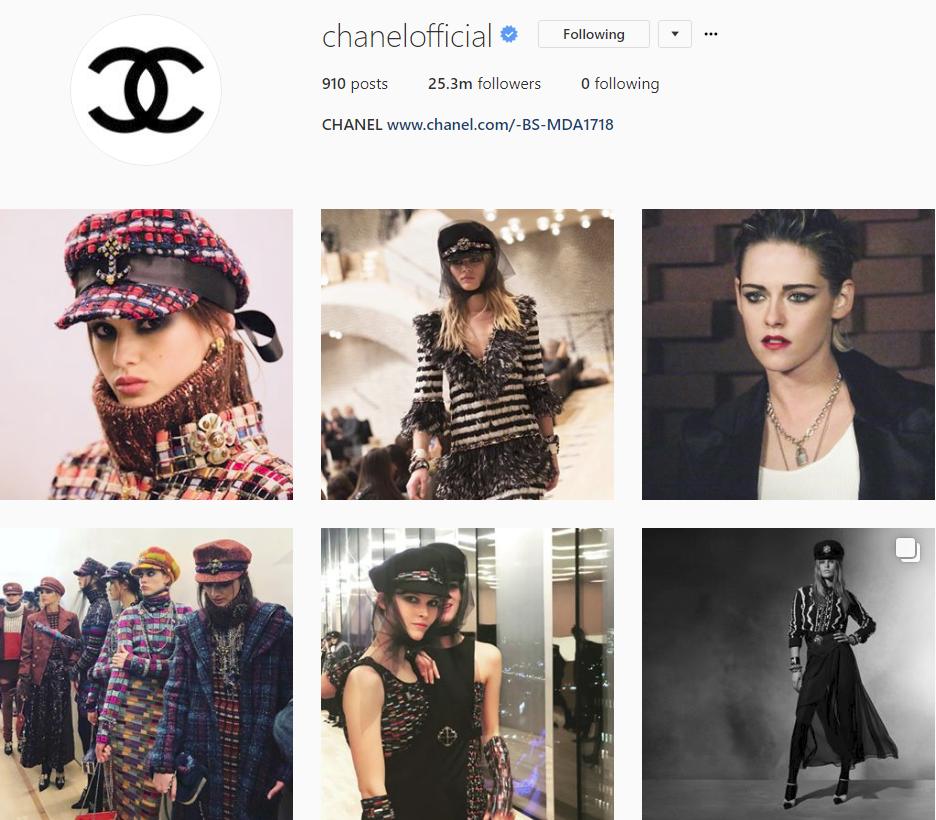 Bảng xếp hạng làng thời trang trên Instagram năm 2017: siêu mẫu Kendall Jenner xưng hậu, nhà mốt Chanel xưng vương - Ảnh 17.