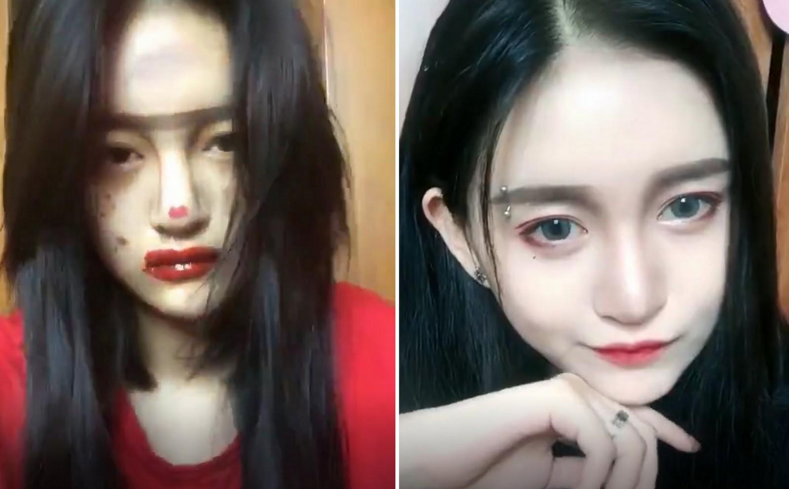 Lột xác từ xấu thành xinh trong 16s: Loạt clip của các hot girl Trung Quốc đang càn quét khắp Facebook - Ảnh 6.