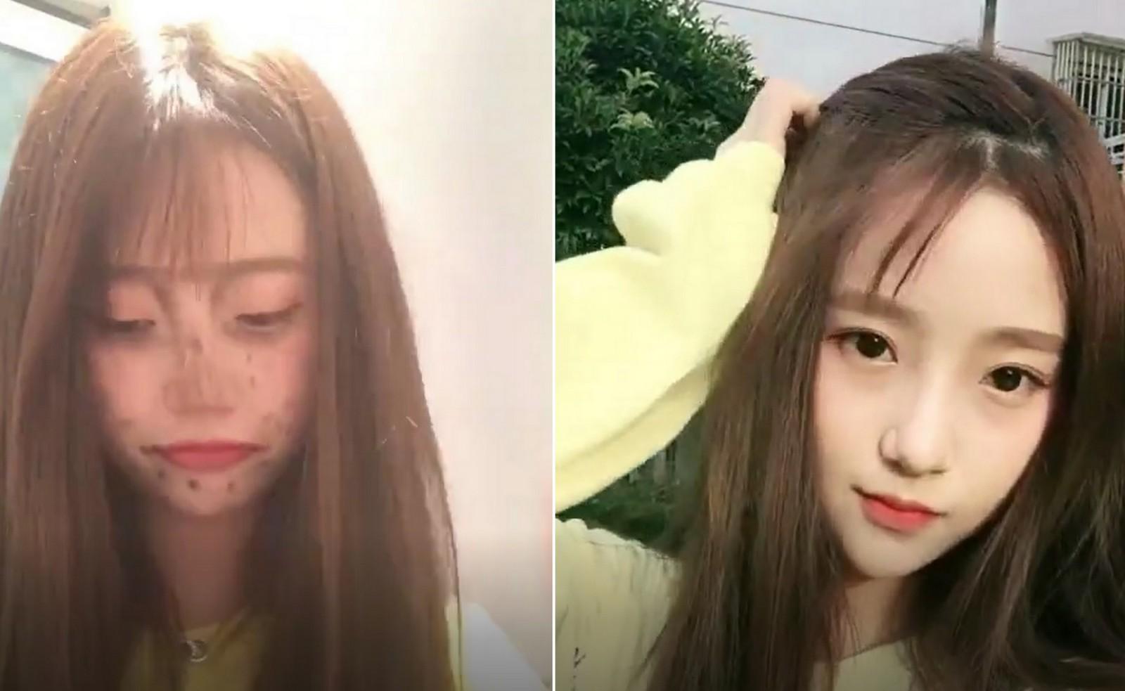 Lột xác từ xấu thành xinh trong 16s: Loạt clip của các hot girl Trung Quốc đang càn quét khắp Facebook - Ảnh 7.