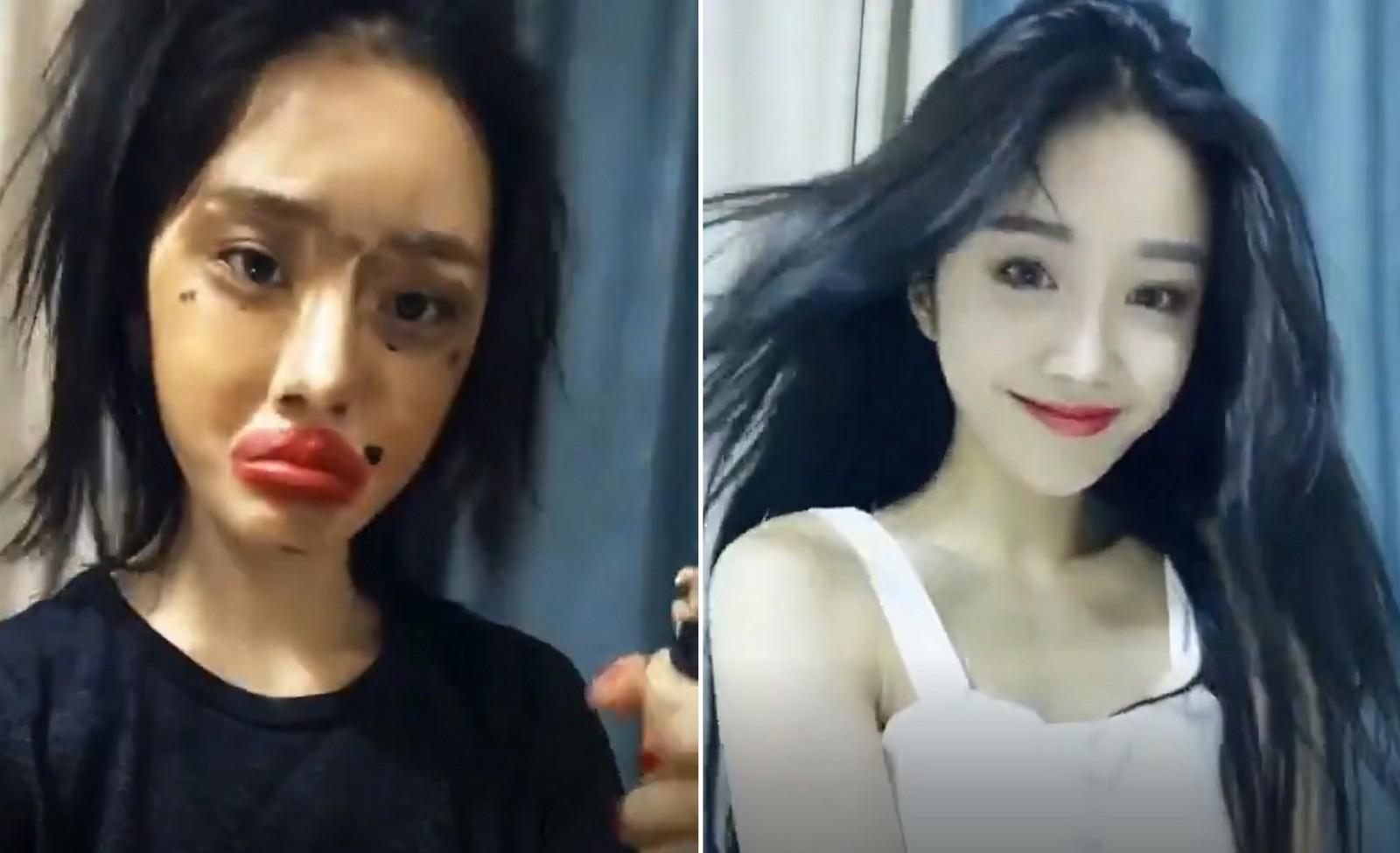 Lột xác từ xấu thành xinh trong 16s: Loạt clip của các hot girl Trung Quốc đang càn quét khắp Facebook - Ảnh 10.