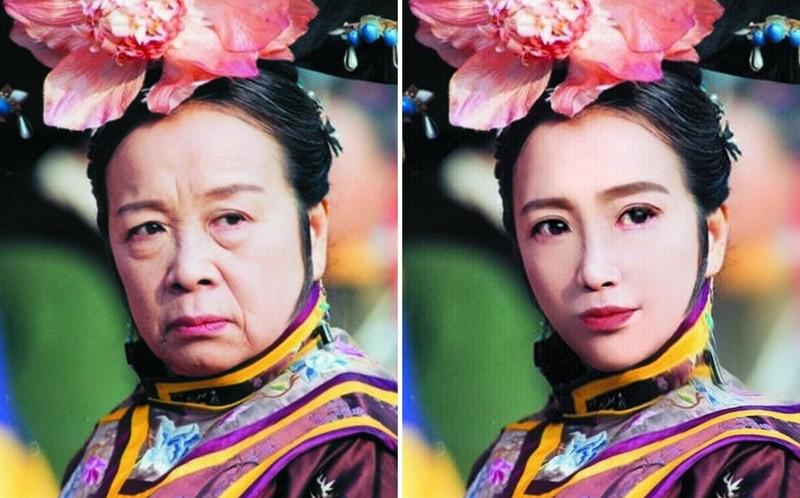 Đến Dung Ma Ma của Hoàn Châu Cách Cách còn hóa mỹ nhân thì ai chẳng lột xác được nhờ photoshop! - Ảnh 1.