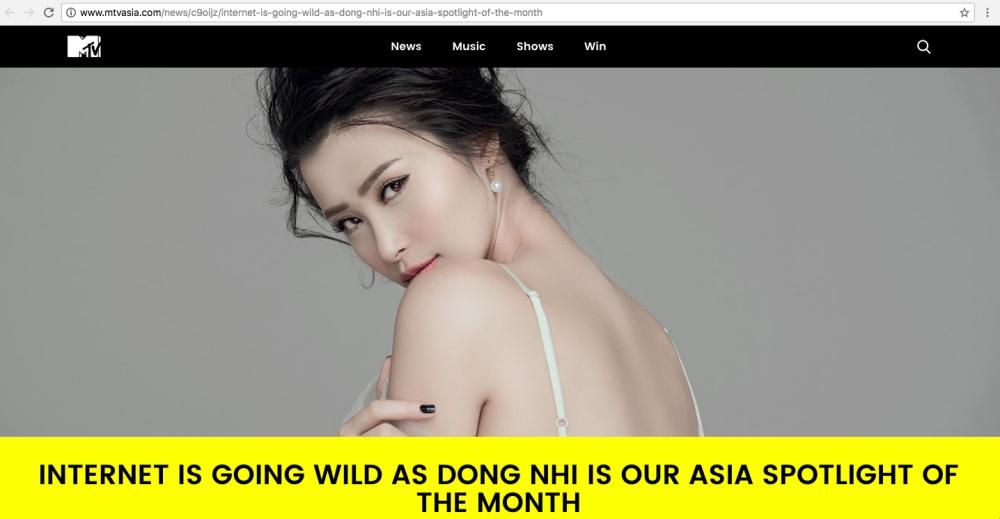Đông Nhi được chọn là Nghệ sĩ nổi bật nhất tháng 7, xuất hiện trên kênh MTV nhiều nước trên thế giới - Ảnh 3.