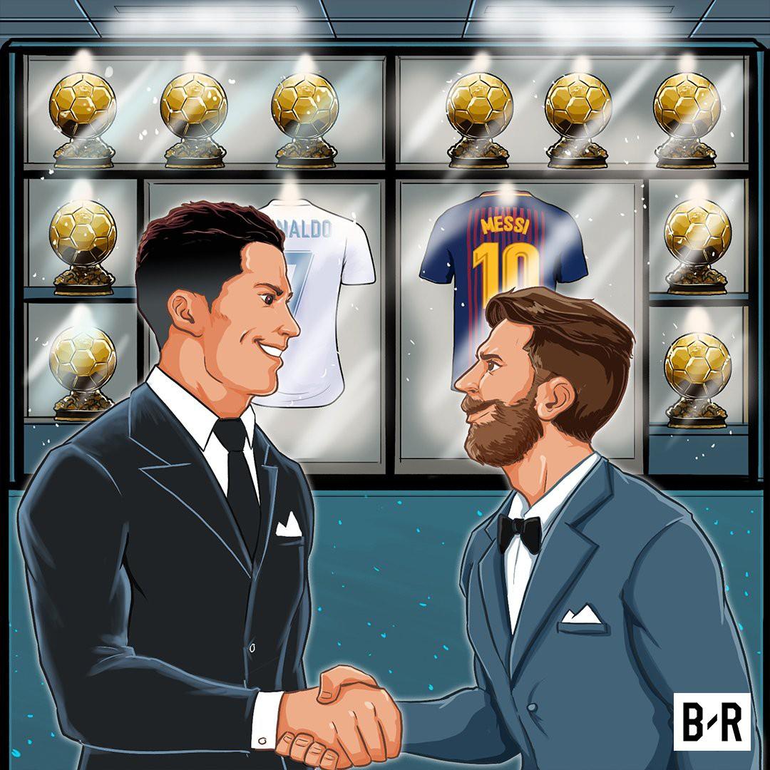 Ảnh chế: Ronaldo một tay bế Quả bóng vàng, một tay ẵm... Messi - Ảnh 9.